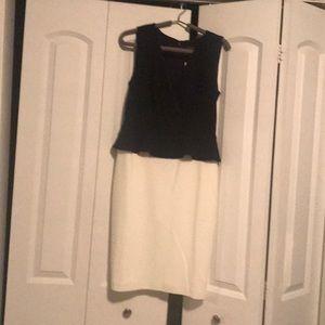 One piece black/ cream dress